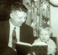 Martha as a child with her father